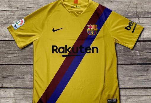 También la segunda equipación presenta una curiosa novedad en su intento de  homenajear a una que el Barça vistió en los años 70. 90f58ea3f72