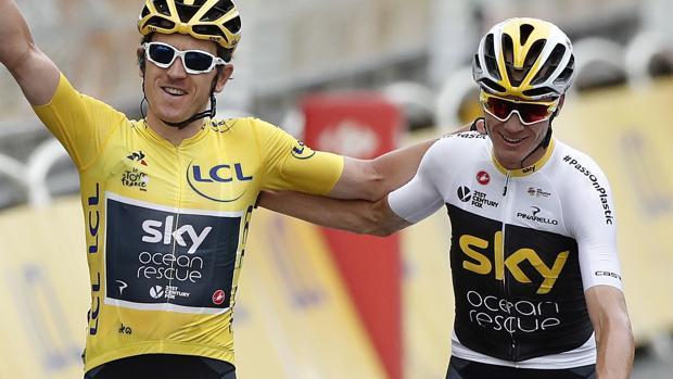 Chris Froome y Geraint Thomas, último ganador del Tour