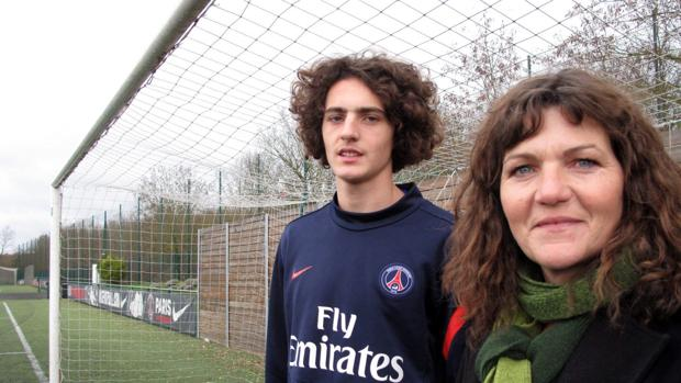Adrien Rabiot y su madre Veronique