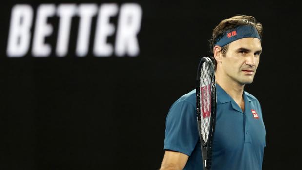 Federer, durante su duelo ante Istomin