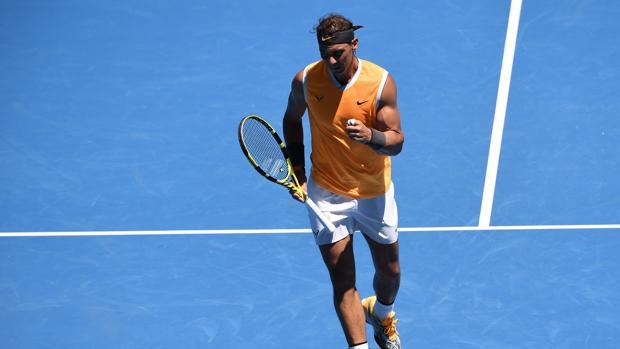 El jugador maloorquín durante su primer encuentro en la nueva edición del Open de Australia