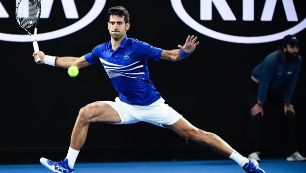 Djokovic en la semifinal contra Lucas Pouille