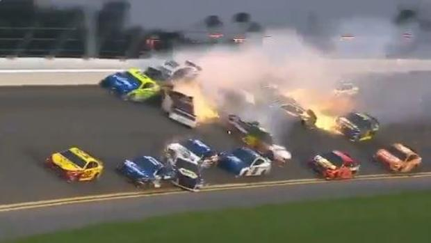 Así fue el «Big One» del Daytona 500: un impresionante accidente de 21 coches