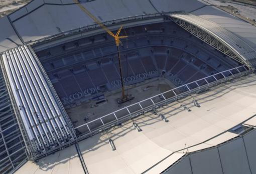 Imagen área del estadio Al Bayt
