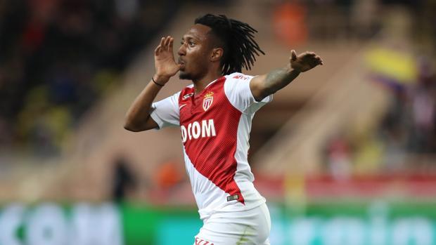 Gelson Martins celebra un gol con el Mónaco.