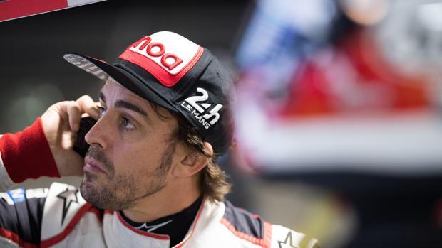 Alonso, durante la sesión de entrenamientos del miércoles