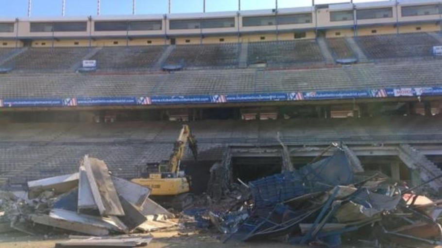 Filtran una imagen del derribo interior del Vicente Calderón