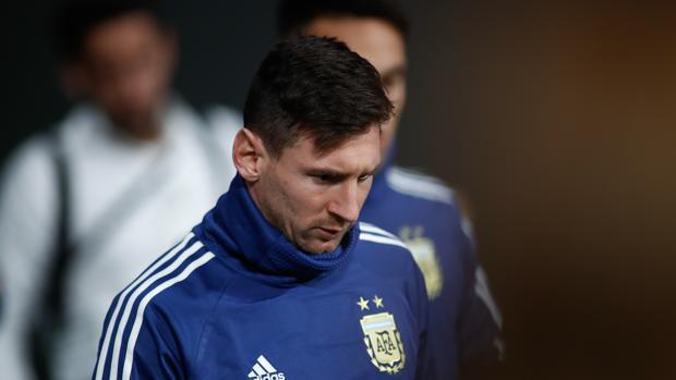 Leo Messi con la selección de Argentina
