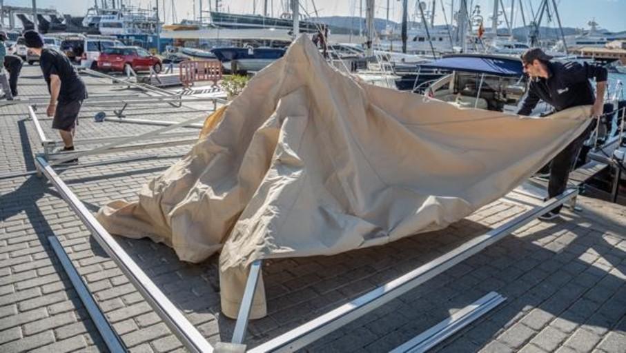 Arranca el montaje de la 36ª edición del Palma International Boat Show