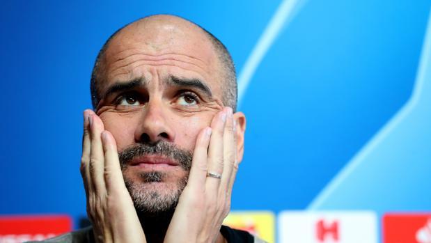 Guardiola, durante la rueda de prensa previa al City-Tottenham