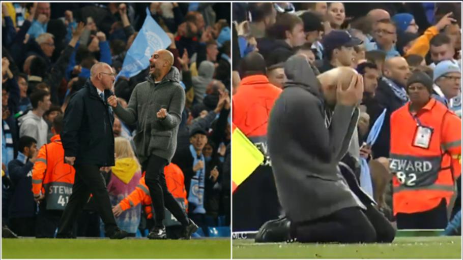 La secuencia en la que Guardiola pasa de la alegría a la derrota