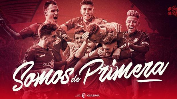 Osasuna entrará en el año de su centenario con el equipo en Primera División