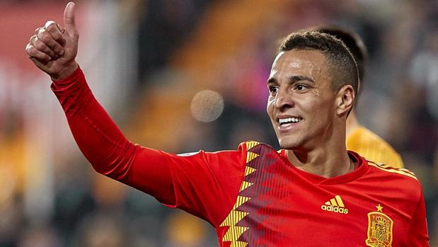 Rodrigo Moreno, con la camiseta de la selección
