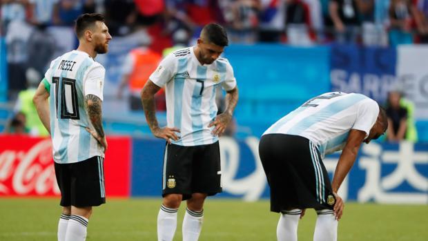 Argentina después de haber quedado eliminada ante Francia en el pasado Mundial