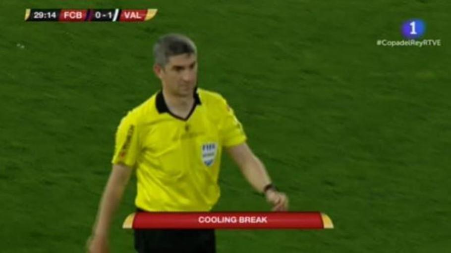 Indignación por la rotulación en inglés de Televisión Española durante la final de Copa