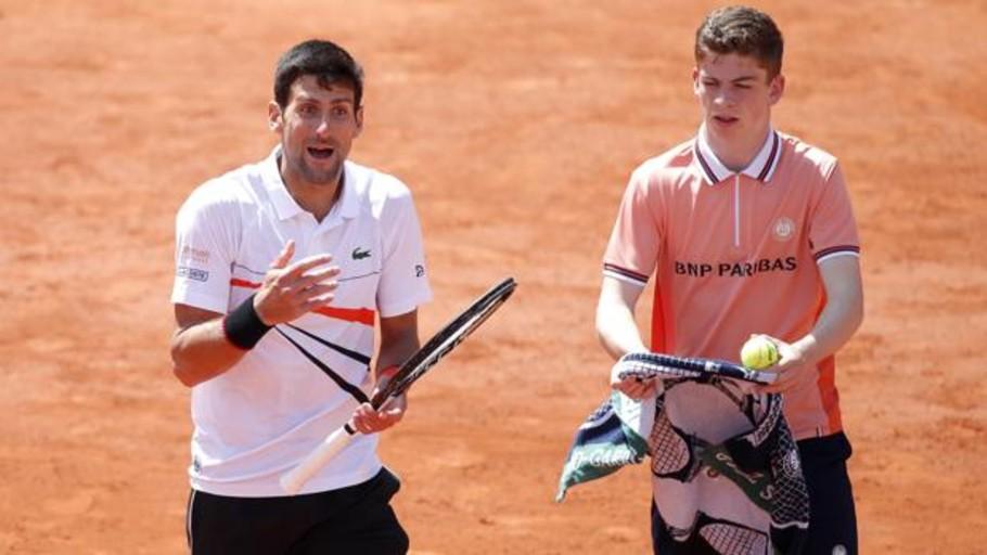 El enfado de Djokovic con el juez de silla español