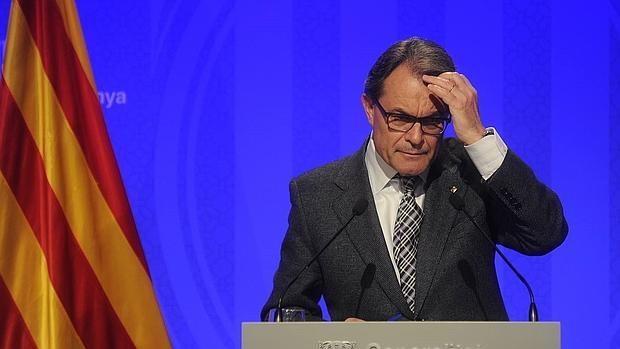 El presidente de la Generalitat ,Artur Mas