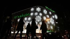 Iluminación navideña de El Corte Inglés