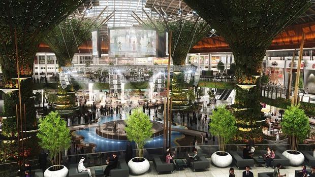Proyección del centro comercial inaugurado en Qatar