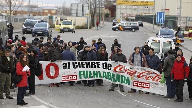 Protestas por el ERE que planteó Coca-Cola hace dos años