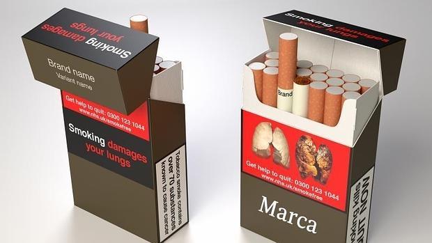 Imagen de las cajetillas de tabaco