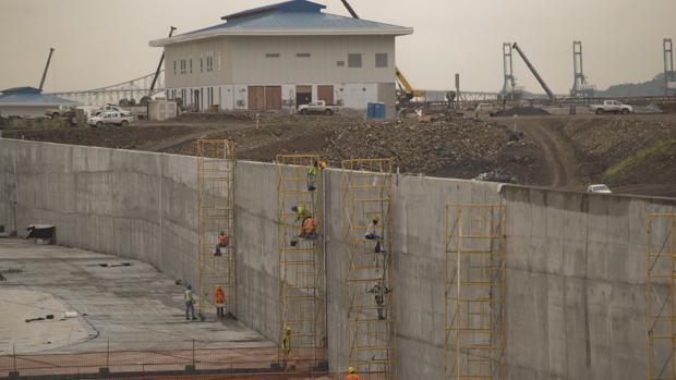 Imagen de archivo de la construcción de la ampliación del Canal