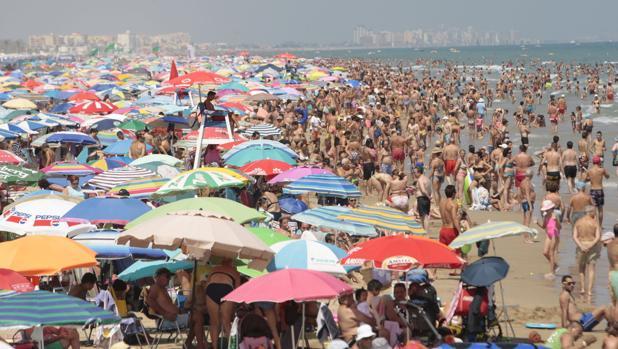 Vista de la Playa de Gandía, en la Comunidad Valenciana