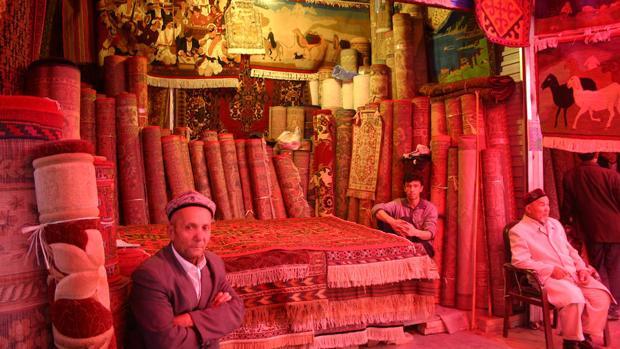 Bazar de Kashgar (China), recuperada para la Ruta de la Seda