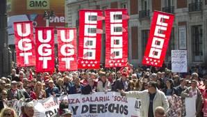 Manifestación de los sindicatos el 1 de mayo
