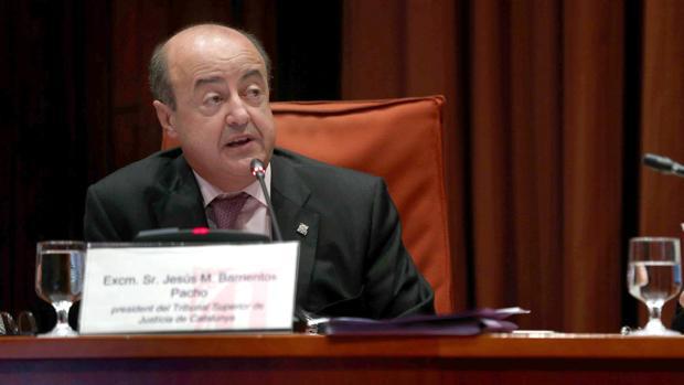 El presidente del Tribunal Superior de Justicia de Cataluña (TSJC), Jesús María Barrientos