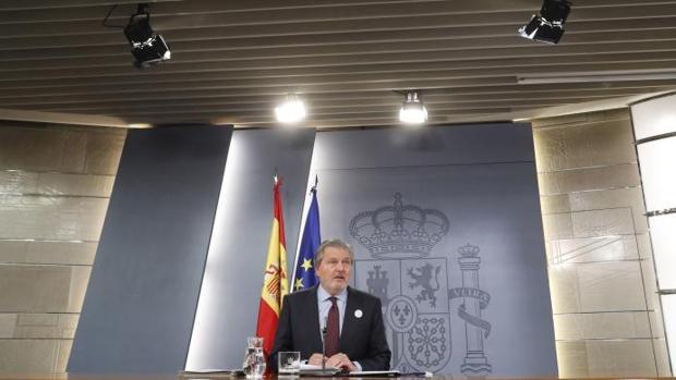 El ministro de Educación y Portavoz del Gobierno,Iñigo Méndez de Vigo