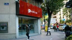 Oficina de Banco Popular en la calle Velázquez de Madrid