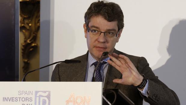 El ministro de Energía, Turismo y Agenda Digital, durante su intervención esta tarde