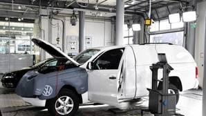 Reparación de un vehículo de Volkswagen