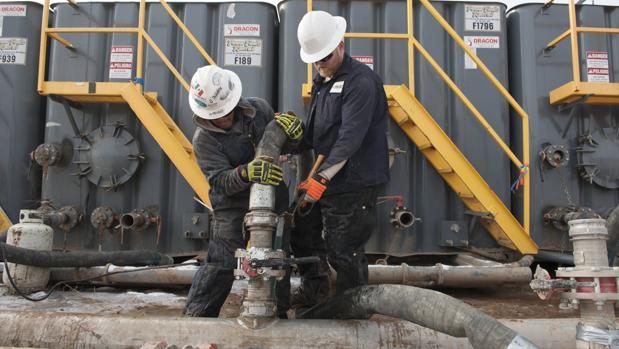 Instalación de «fracking» en Williston, Dakota del Norte (EE.UU.)