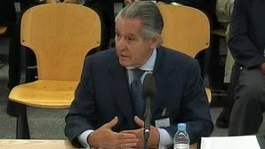 El expresidente de Caja Madrid Miguel Blesa durante el juicio por las Visas opacas de la entidad