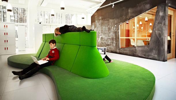 Espacios en la escuela sueca Vittra