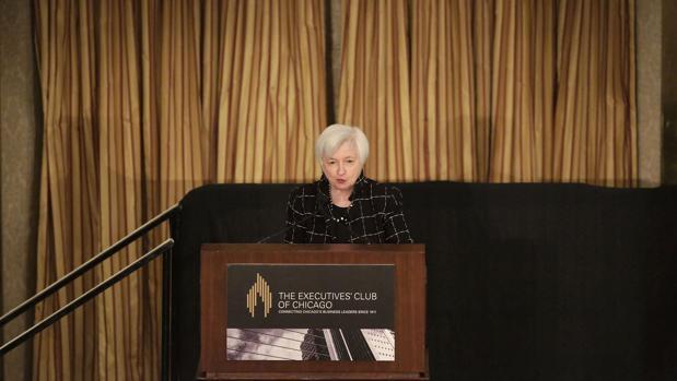 Janet Yellen, presidenta de la Reserva Federal, en un acto celebrado este viernes en Chicago
