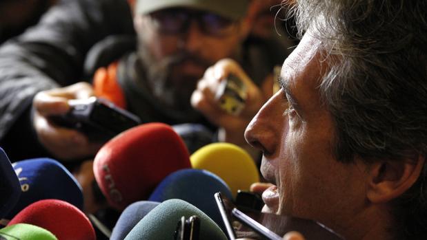 Íñigo de la Serna, ministro de Fomento, este lunes en Valencia