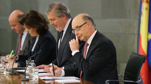 Rueda de prensa posterior al Consejo de Ministros del pasado viernes