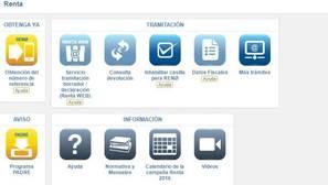 ¿Cuál es la manera más sencilla de acceder al borrador y al programa Renta web?