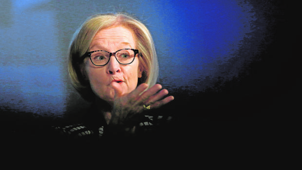 Daniele Nouy, presidenta del Consejo de Supervisión del mecanismo único de supervisión del BCE