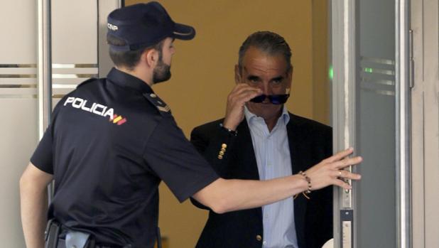 Mario Conde, en una de sus visitas a la Audiencia Nacional
