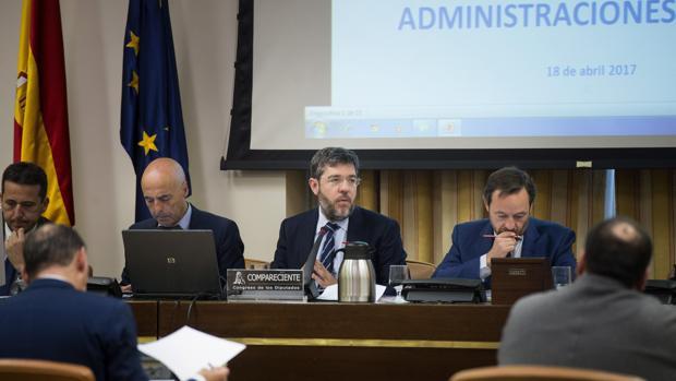 El secretario de Estado de Presupuestos y Gastos, Alberto Nadal, en el Congreso de los Diputados