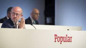 Emilio Saracho, presidente del Banco Popular, en la junta de accionistas de 2017