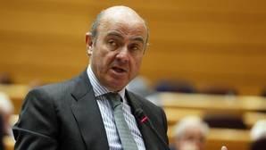 El ministro Luis De Guindos, en el Senado