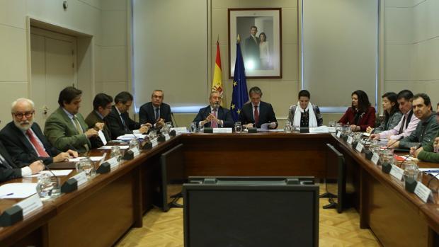 Reunión del ministro de Fomento con representantes de la estiba