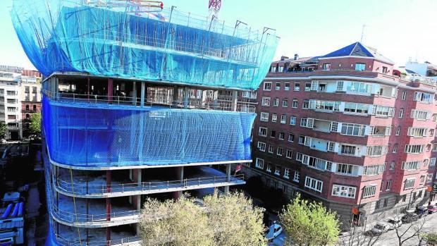Construcción de un edificio en Madrid