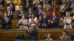 Cristóbal Montoro, hace unos días en el Congreso tras la aprobación de los Presupuestos