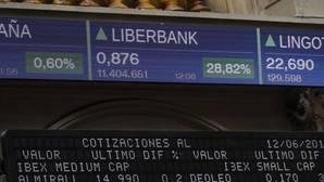 Pantalla de la Bolsa de Madrid